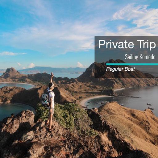 private trip sailing komodo
